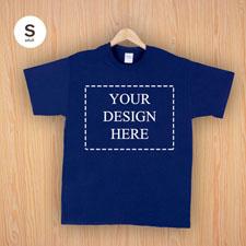 Größe S T-Shirt Navy Dunkelblau 4er Collage, Querformat, Personalisierte Baumwolle
