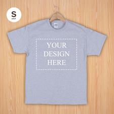 Größe S T-Shirt Silber Grau 4er Collage, Querformat, Personalisierte Baumwolle