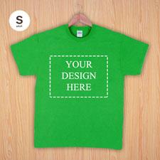Größe S T-Shirt Grün 4er Collage, Querformat, Personalisierte Baumwolle