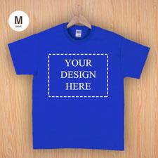Größe M T-Shirt Blau 4er Collage, Querformat, Personalisierte Baumwolle