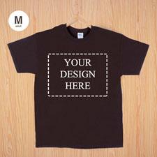 Größe M T-Shirt Braun 4er Collage, Querformat, Personalisierte Baumwolle