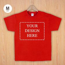 Größe M T-Shirt Rot 4er Collage, Querformat, Personalisierte Baumwolle