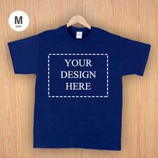 Größe M T-Shirt Navy Dunkelblau 4er Collage, Querformat, Personalisierte Baumwolle