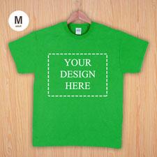 Größe M T-Shirt Grün 4er Collage, Querformat, Personalisierte Baumwolle