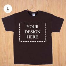 Größe L T-Shirt Braun 4er Collage, Querformat, Personalisierte Baumwolle
