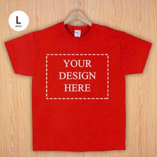 Größe L T-Shirt Rot 4er Collage, Querformat, Personalisierte Baumwolle