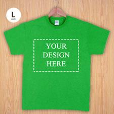 Größe L T-Shirt Grün 4er Collage, Querformat, Personalisierte Baumwolle
