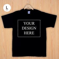 Größe L T-Shirt Schwarz 4er Collage, Querformat, Personalisierte Baumwolle