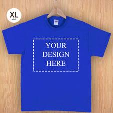 Größe XL T-Shirt Blau 4er Collage, Querformat, Personalisierte Baumwolle