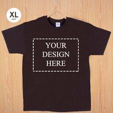 Größe XL T-Shirt Braun 4er Collage, Querformat, Personalisierte Baumwolle