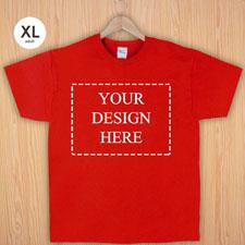 Größe XL T-Shirt Rot 4er Collage, Querformat, Personalisierte Baumwolle
