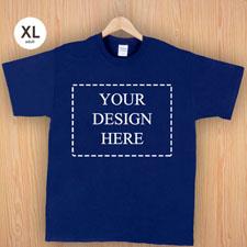 Größe XL T-Shirt Navy Dunkelblau 4er Collage, Querformat, Personalisierte Baumwolle