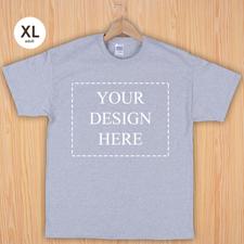 Größe XL T-Shirt Silber Grau 4er Collage, Querformat, Personalisierte Baumwolle