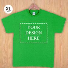 Größe XL T-Shirt Grün 4er Collage, Querformat, Personalisierte Baumwolle