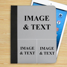 3er Collage Drei Fotos iPad Folio Case Personalisieren