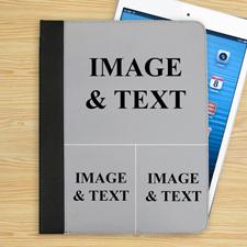 3er Collage Drei Fotos iPad Folio Case Personalisieren