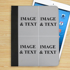 4er Collage Vier Fotos iPad Folio Case Personalisieren