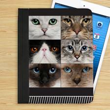 Schwarze Streifen 6er Collage iPad Foilo Case
