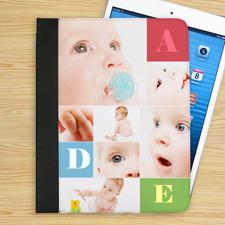 Mehrfarbige 6er Collage iPad Folio Case Personalisieren