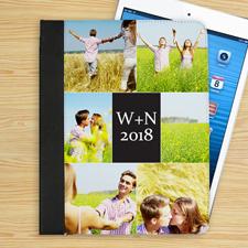 Schwarze 6er Collage iPad Folio Case Personalisieren
