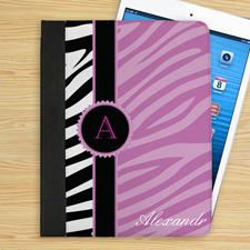 Lavendel und Schwarz Zebramuster iPad Case Personalisieren