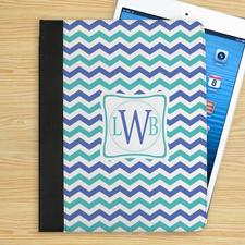 Blaue und Hellblaue Wellen iPad Folio Case Personalisieren