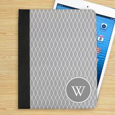Graues Monogramm Barcelona iPad Folio Case Personalisieren