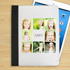 Weiß 8er Collage iPad Folio Case Personalisieren