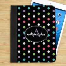 Bunte Punkte iPad Folio Case Persoanlisieren
