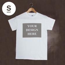 T-Shirt Weiß Baumwolle Mein Text Mein Bild Größe S für Erwachsene