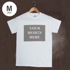 T-Shirt Weiß Baumwolle Mein Text Mein Bild Größe Medium für Erwachsene