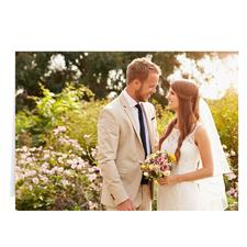 Hochzeitsfoto Querformat 12,7 cm x 17,8 cm, Doppelkarte