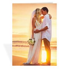 Hochzeitsfoto, Hochformat 12,7 cm x 17,8 cm, Doppelkarte
