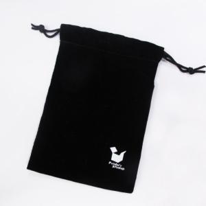 Velvet bag with drawstring