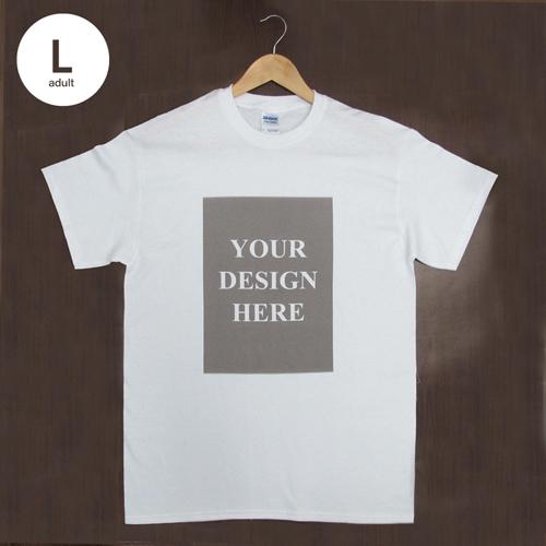 Weiß Liebe Treffer T-Shirt Hochformat Baumwolle Große Größe L Gestalten