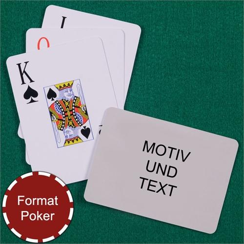 Poker Spielkarten mit Großdruck Querformat