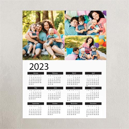 Weiß Hochformat 2018 Posterkalender Dreier Collage 30,5 x 45,7 cm