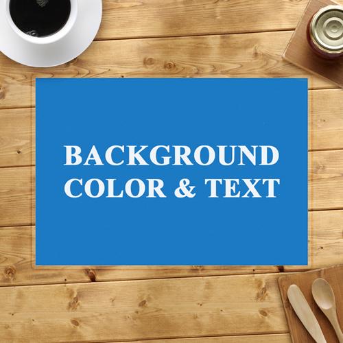 tischsets mit freier farbwahl 410 x 285 mm selbst gestalten. Black Bedroom Furniture Sets. Home Design Ideas