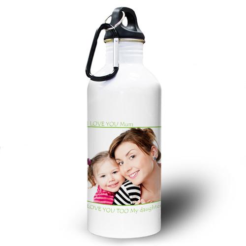 Vollbild Grün Wasserflasche zum Personalisieren