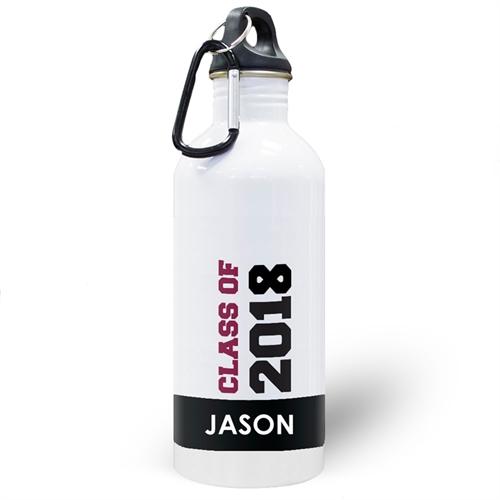 Jahrgang 2018 Schwarz Wasserflasche zum Personalisieren