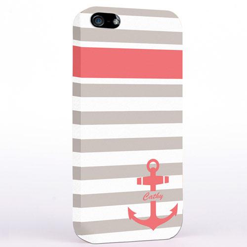 Anker Altrosa Mit Grauen Streifen iPhone5 Case