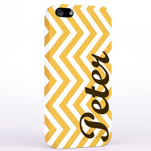 Gelbes Zickzack iPhone 5 Personalisieren