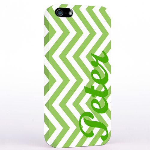 Grünes Zickzack iPhone 5 Personalisieren