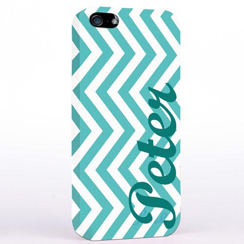 Aqua Zickzack iPhone 5 Case Personalisieren