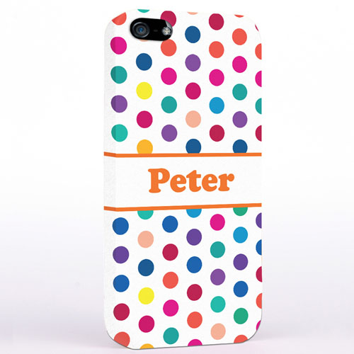 Orange Bunte Punkte iPhone5 Case
