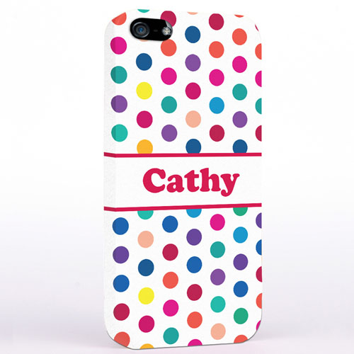 Rote Bunte Punkte iPhone5 Case
