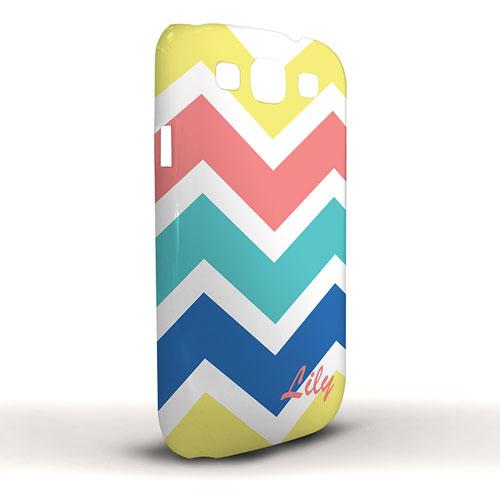 Gelb Rot Aqua Blau Breites Zickzack Samsung S3 Case