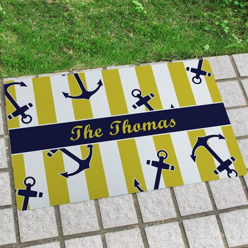 Anker Ihr Name und Design Personalisierete Fußmatte Innen und Außen