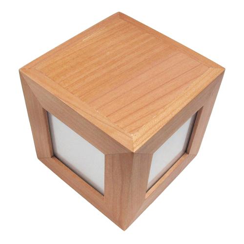 Gravierter Holzwürfel Fotos & Botschaft