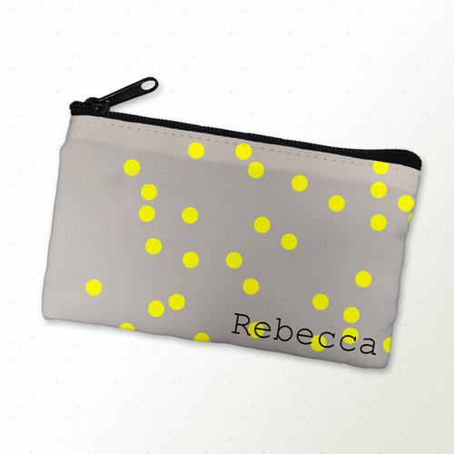 Gelbe Punkte Kosmetiktasche 10,2 x 17,8 cm Personalisieren